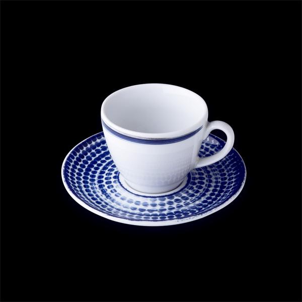 Чашка кофейная 80 мл Points, белая с голубой каёмкой, G.Benedikt