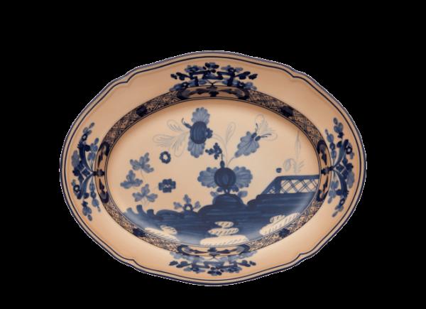 Oval flat platter_ginori