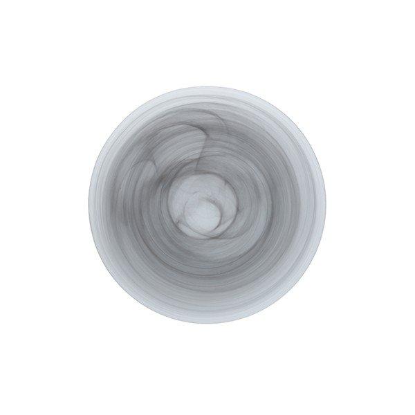серая тарелка из стекла матовая с разводами