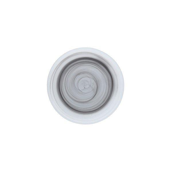 тарелка из стекла серого цвета плоская без борта