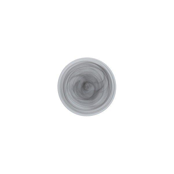 тарелка 21 см серого цвета из стекла