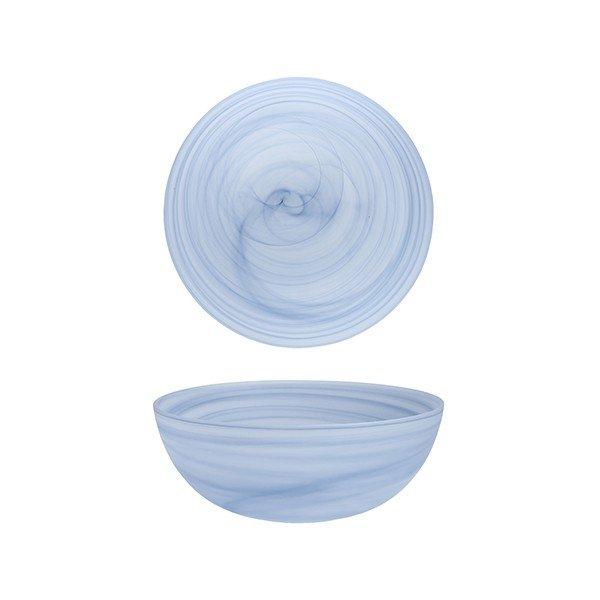 салатник голубого цвета со спиральным узором