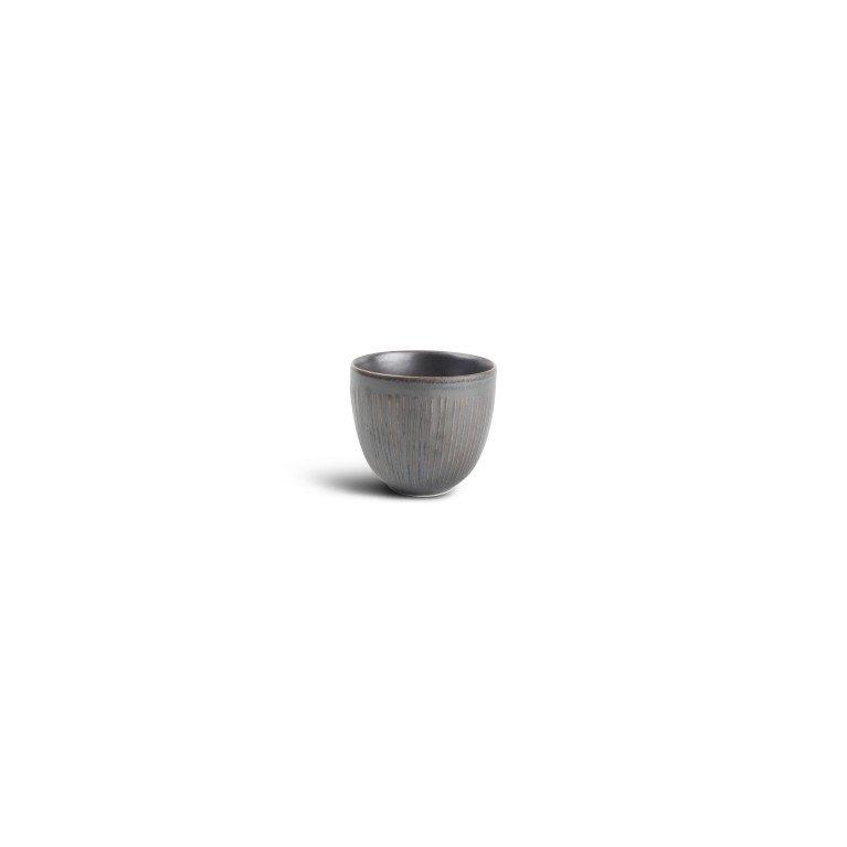 чашка 150 мл без ручки серого цвета