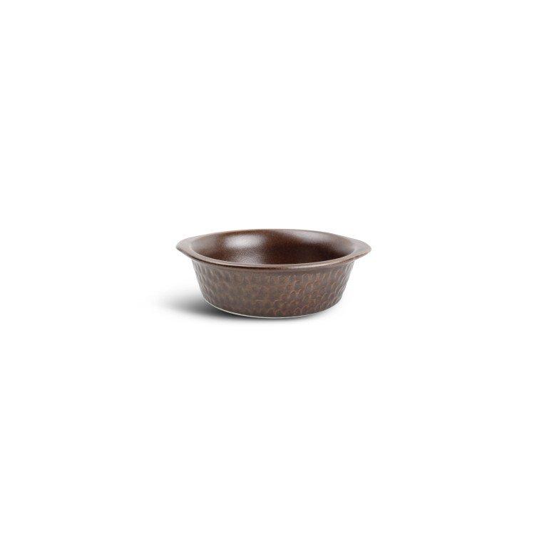 форма для запекания круглая коричневого цвета