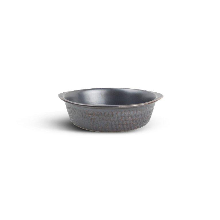 форма для запекания круглая серого цвета с ручками
