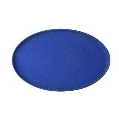 тарелка овальная синего цвета