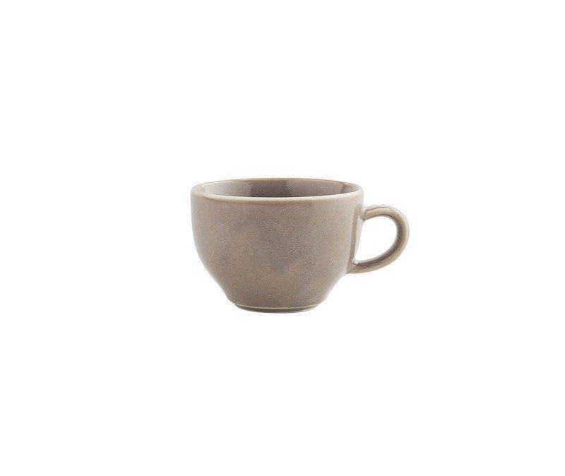 чашка для чая с ручкой бежевого цвета