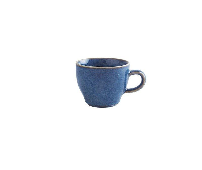 чашка синего цвета для капучино 180 мл