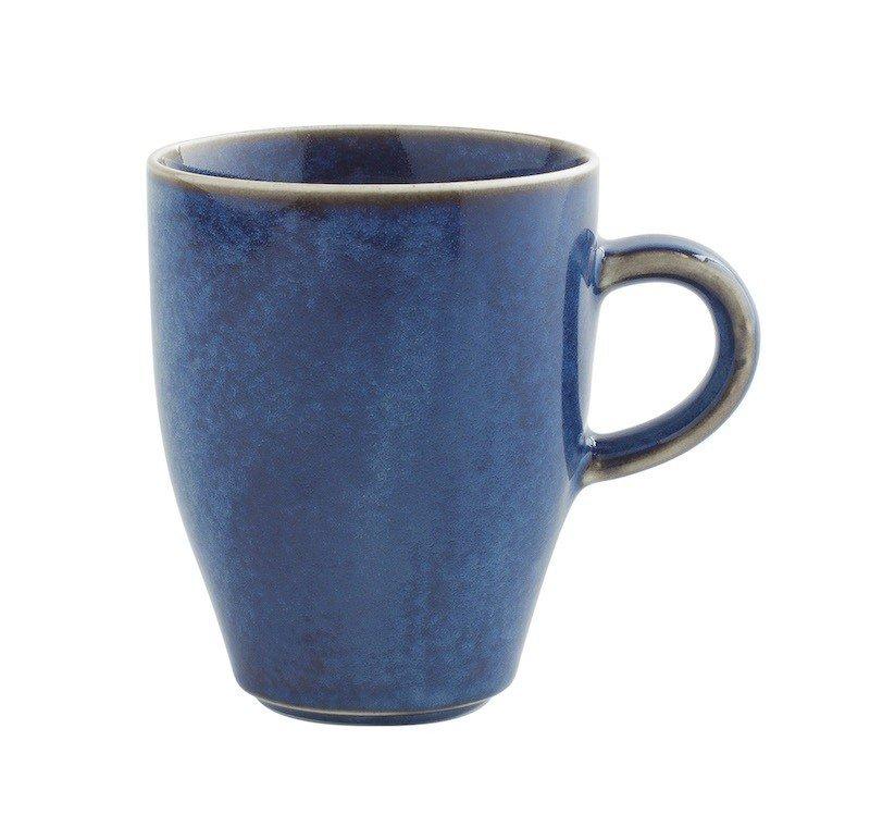 кружка высокая синего цвета с ручкой 320 мл