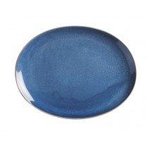 овальная тарелка синего цвета