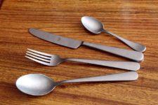 столовые приборы для ресторана под олово, матовые винтажные столовые приборы в ассортименте столовая ложка, столовая вилка, столовый нож, чайная ложка