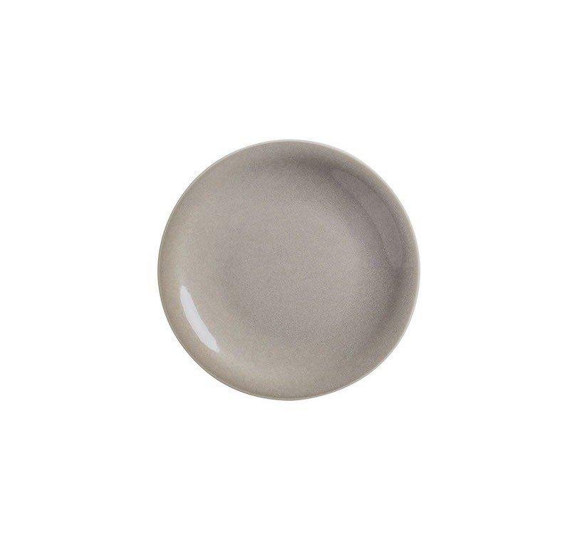 тарелка мелкая 16 см без борта песочного цвета