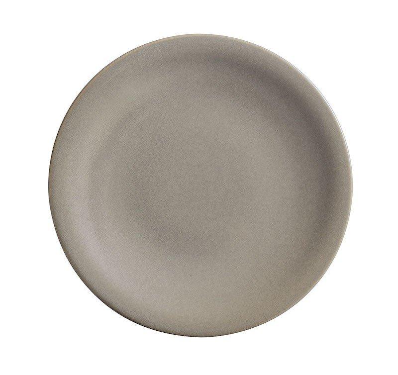 тарелка мелкая круглая с маленьким бортом песочного цвета