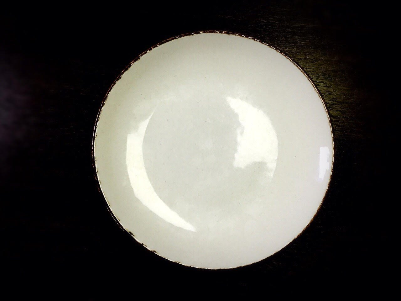 тарелка мелкая без борта 23 см белая Village