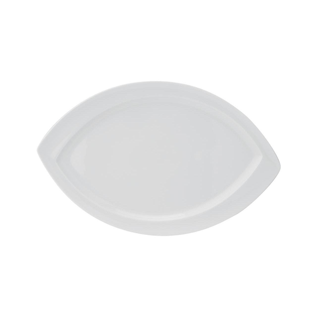 тарелка в форме листа неправильной формы из белого фарфора